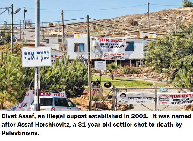 Givat Assaf, an illegal outpost