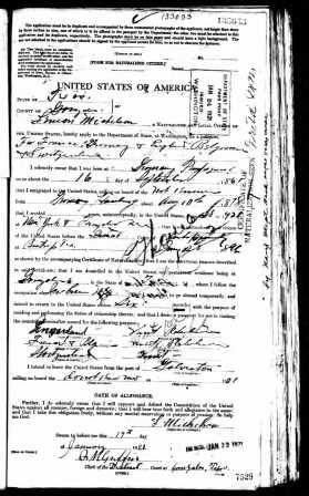 Lehman Michelson 1921 passport application-edit