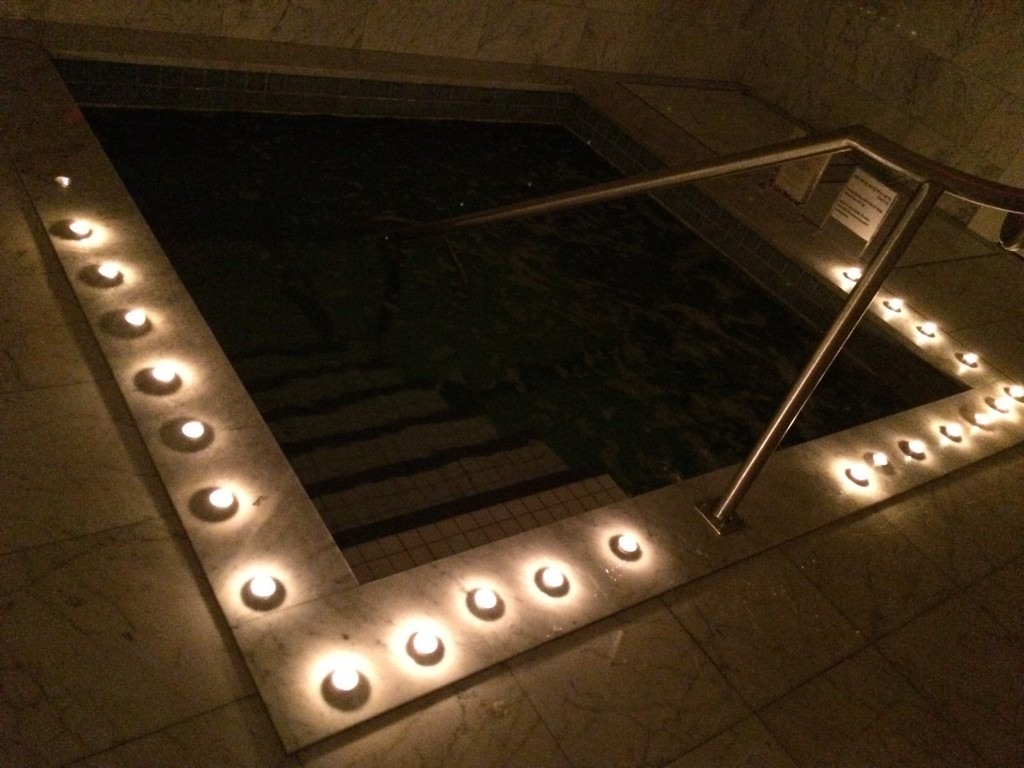 The mikvah prepared for ceremony of transition following a divorce. Photo by Sharon Sobel.