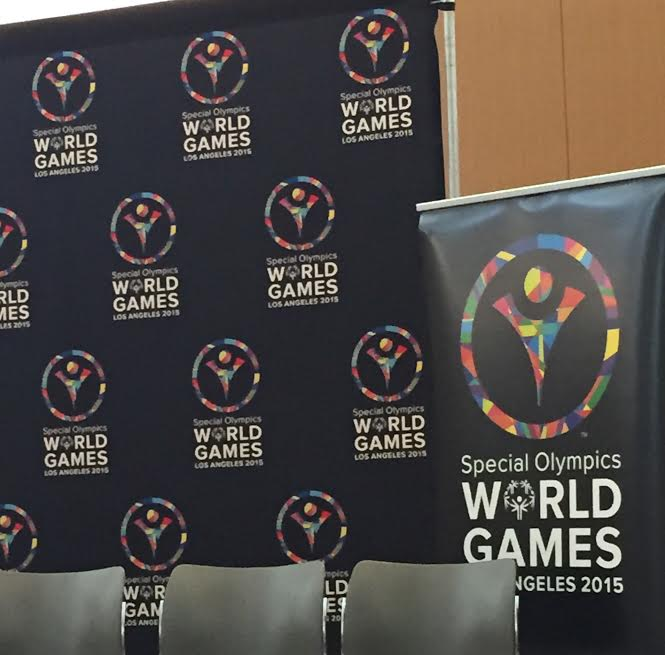 Special Olympics banner and logo