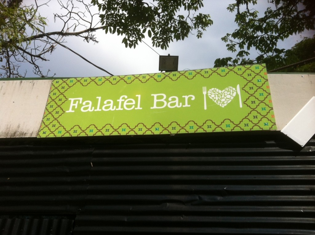 Falafel bar in Manuel Antonio, Costa Rica