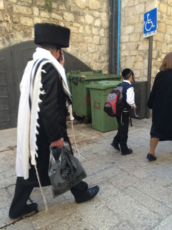 A shtriemel wearing Jew in the Old City.