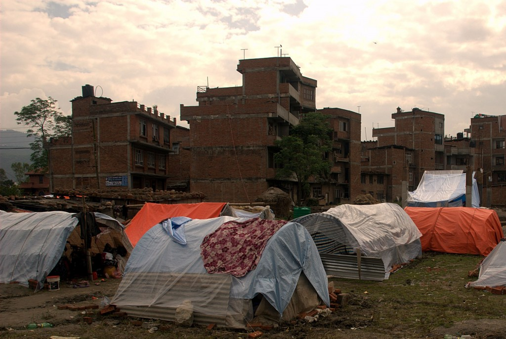 Tents in Kathmandu (Photo: Josh Simons/World Jewish Relief)
