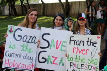 Teens at a Free Gaza rally in Texas