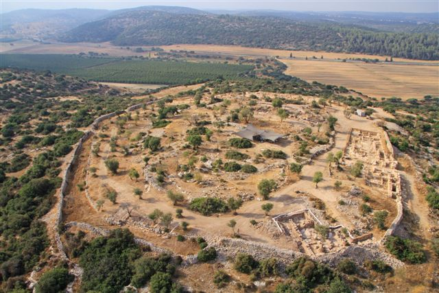 Aerial picture of the site at Khirbet Qeiyafa