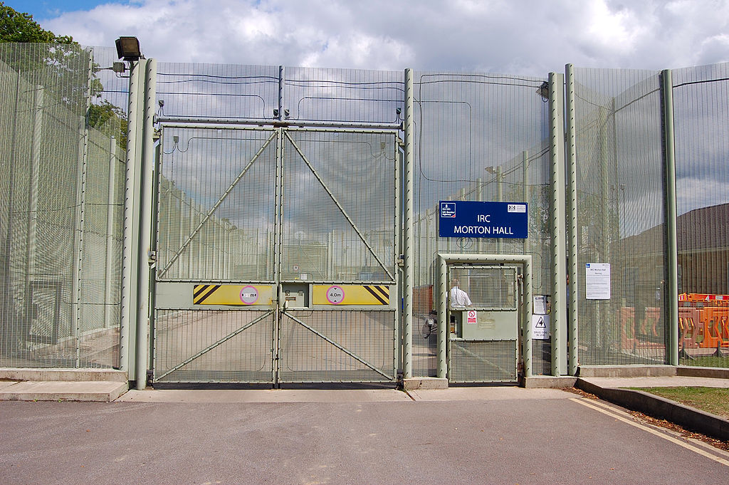 An Immigration Removal Cenre that looks just like a prison.