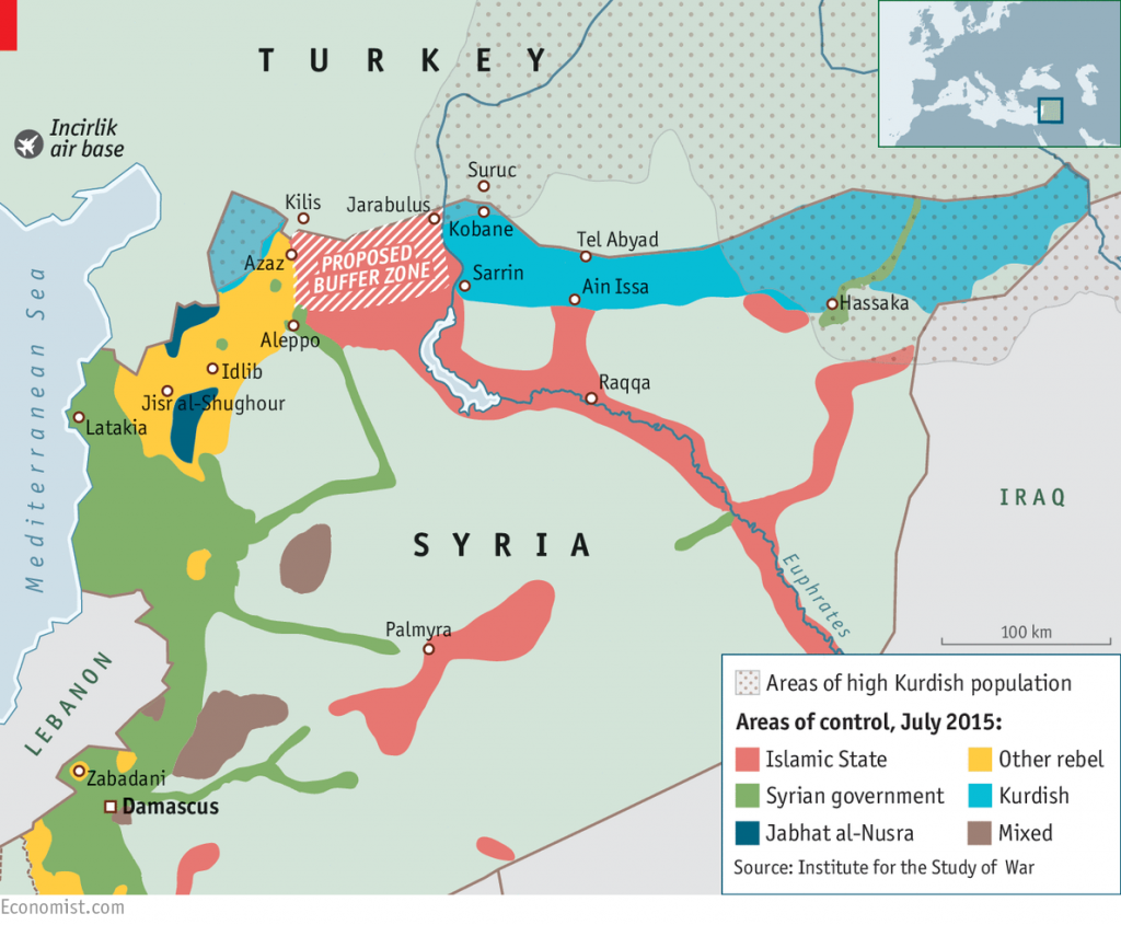 Proposed Syrian buffer zone