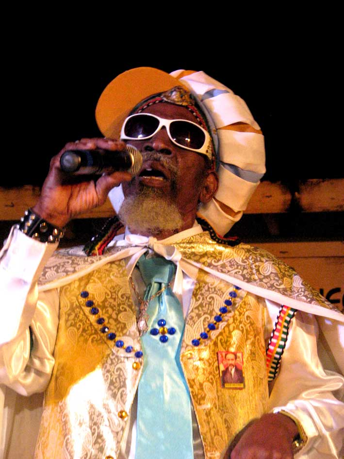 Bunny Wailer, performing in Negril, 2009