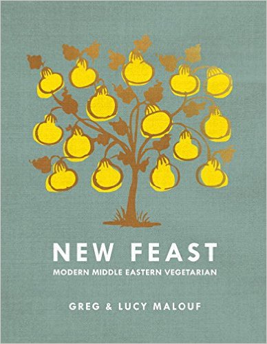 New Feast: Modern Middle Eastern Vegetarian by Greg and Lucy Malouf (http://ecx.images-amazon.com/images/I/51zvbVP0YGL._SX386_BO1,204,203,200_.jpg)
