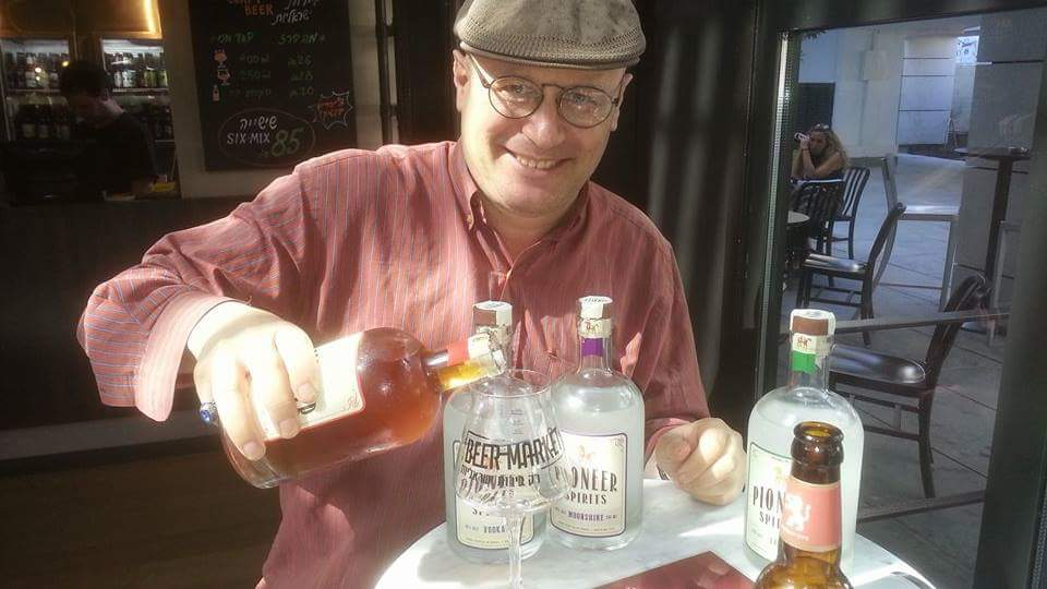 Here's your drinking hero, David Rhodes, tasting the four new releases of Pioneer Spirits: Moonshine, Vodka, Arak & Spiced Rum