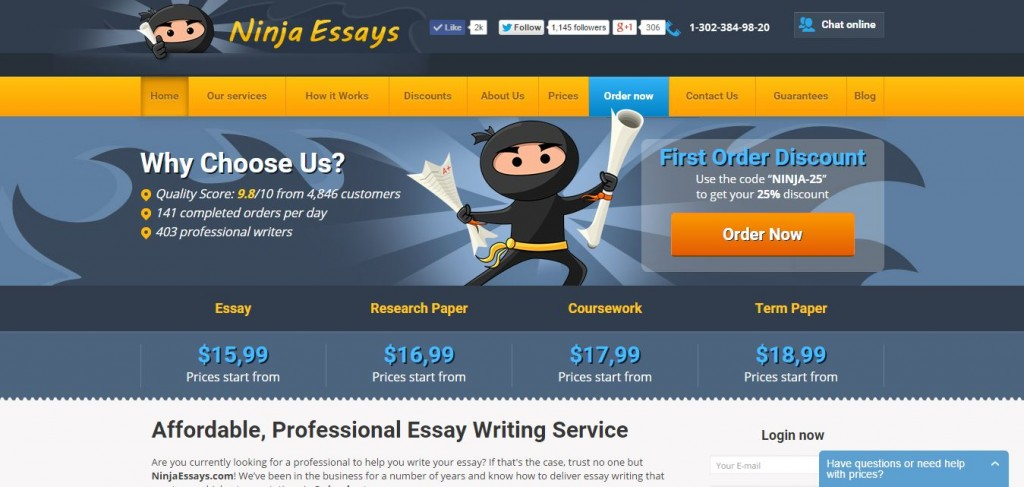 Website for writing essays