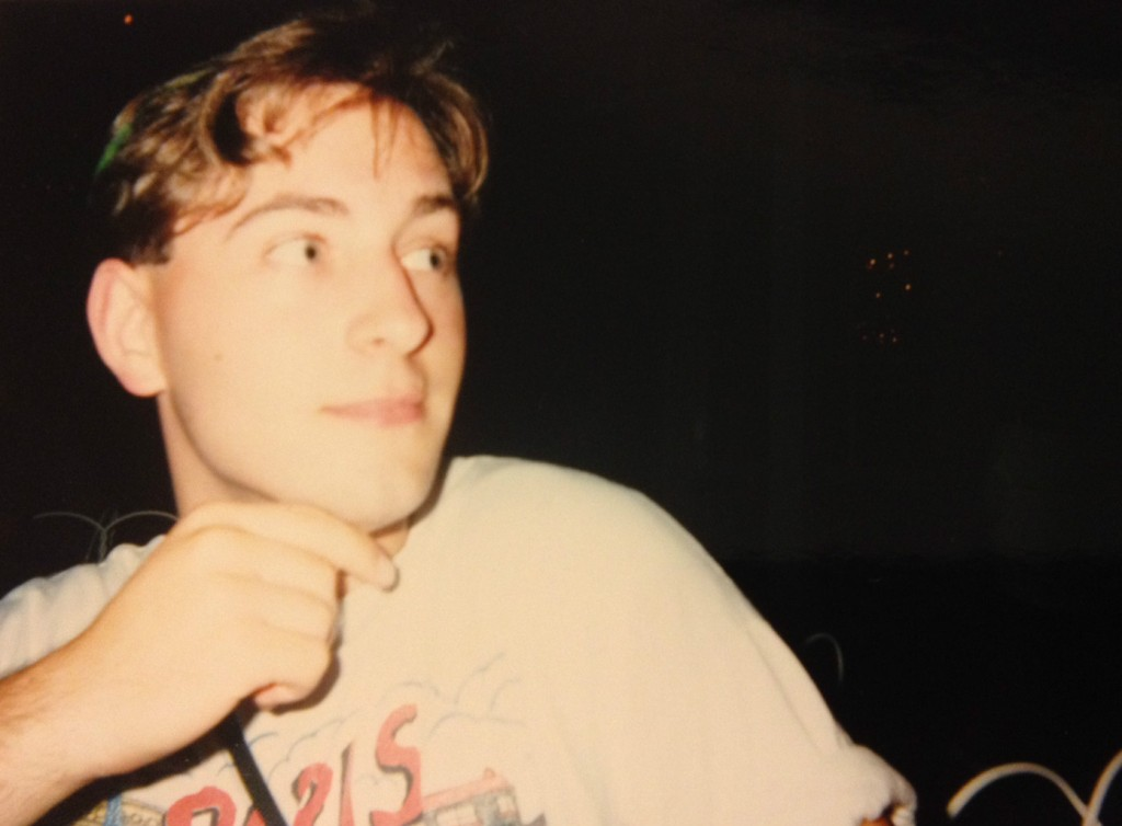 Nick, circa 1990, wearing his Paris shirt, a particular favorite and purchased by his darling little sister. (courtesy)