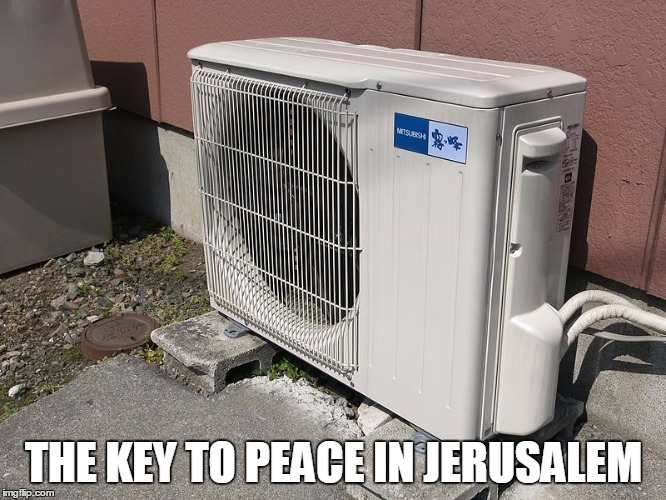Outside_air_conditioner wiki commons the key to peace in jerusalem