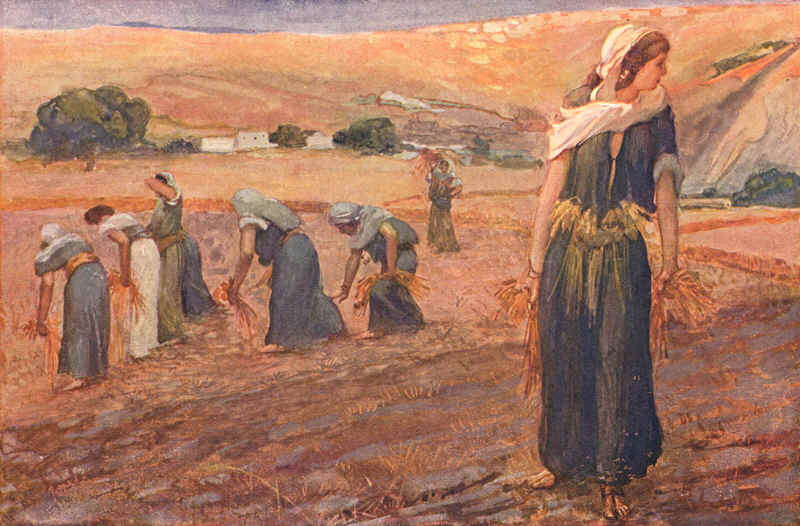 Gleaners (watercolor circa 1900) by James Tissot  (October 15, 1836 – August 8, 1902)