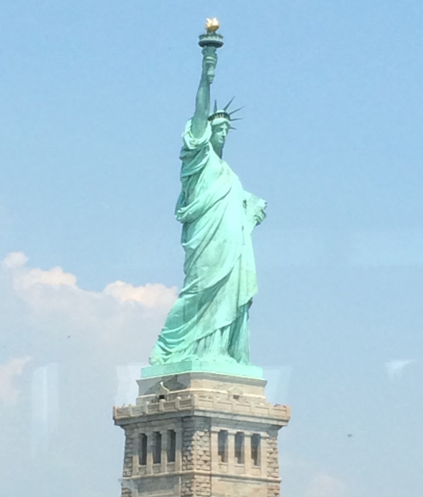The Statue of Liberty (as seen from the Ferry to Liberty State Park - photo by Sydney Marks)