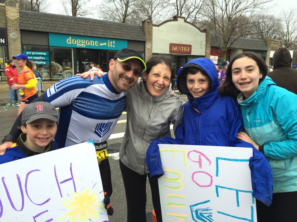 Lerner Levin Family at Mile 20 take 2