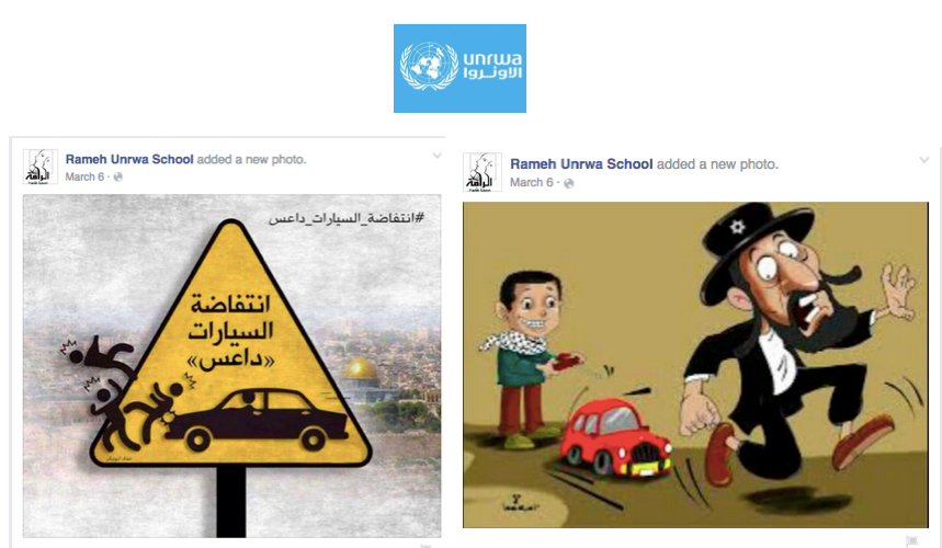 Antisemitic posts from an UNRWA school