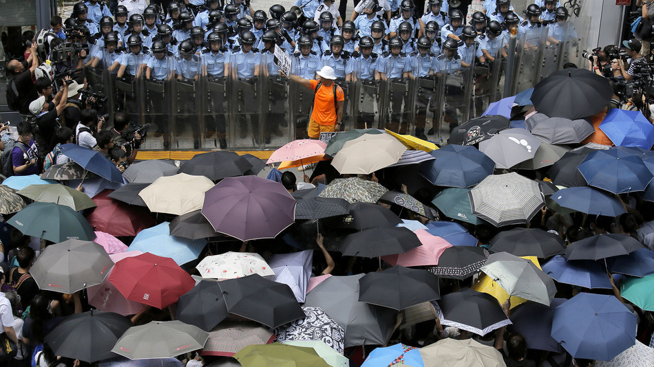 The Umbrella Revolution in Hong Kong (2014). Courtesy of Vincent Yu of the Associated Press