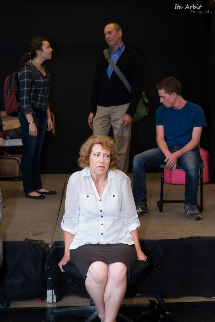 Cash Portraying the Bipolar Diana Goodman at a preview performance of 'Next to Normal' (Photo courtesy of: Ita Arbit)