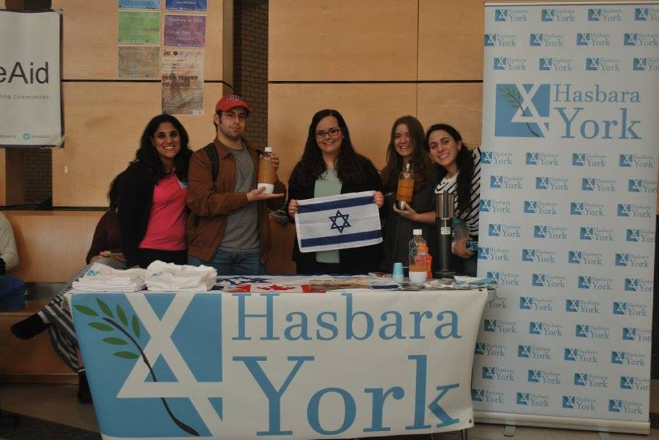 Tabling with our Soda Stream machine, November 3rd, 2015. photo: Hasbara York