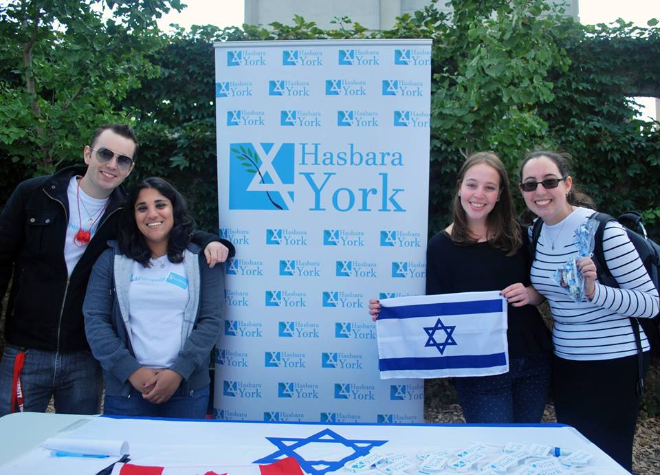 Tabling at YorkFest September 30th 2015. photo: Hasbara York