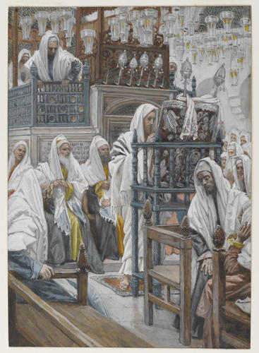 Jesus Unrolls the Book in the Synagogue, 1886-94