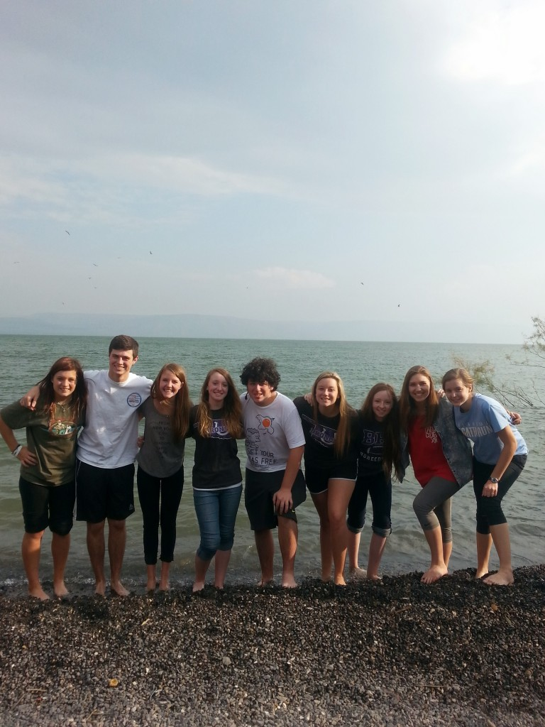 Bethany High students enjoy fun and sun at the Sea of Galilee.