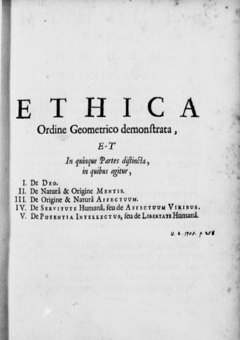 spinoza's book ethica pic