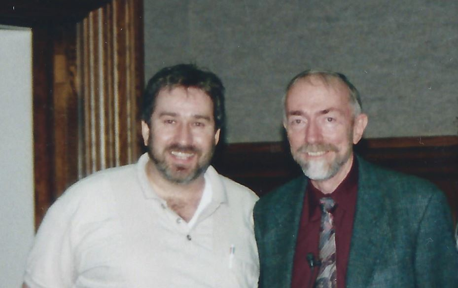 Yoeli Kaufman and Kip Thorne in 1998
