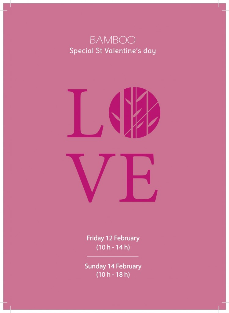 Love, la Saint-Valentin @Bamboo, Flowers Shop
