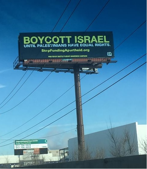 The billboard with its distasteful message.