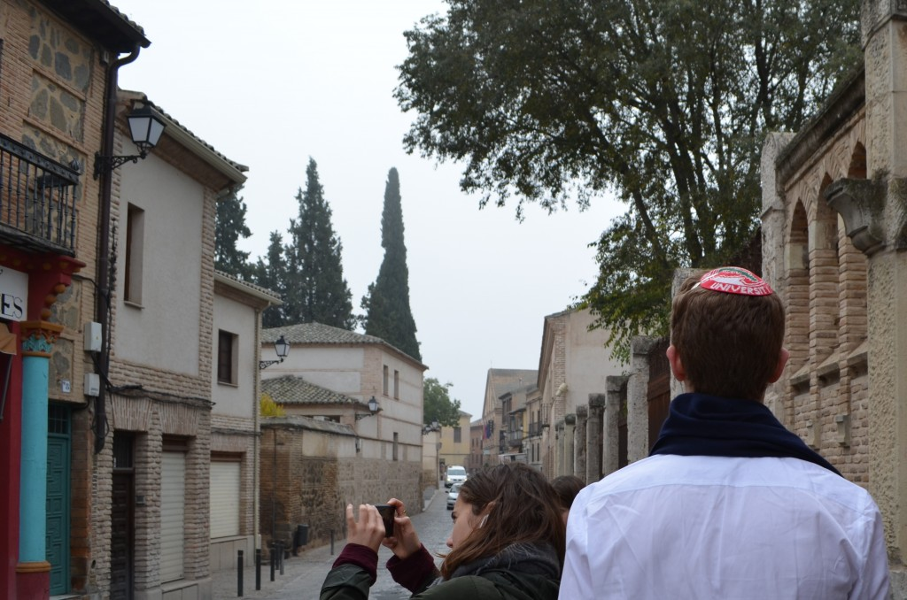 Walking the streets of Spain with a kippah