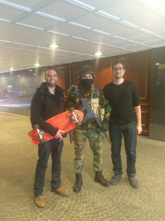 After wishing a Belgian soldier to be safe