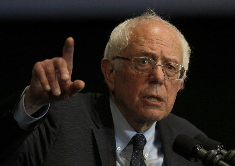 Democratic presidential candidate Bernie Sanders speaks at Boutwell Auditorium, January 18, 2016 in Birmingham, Alabama (Hal Yeager/Getty Images/AFP)