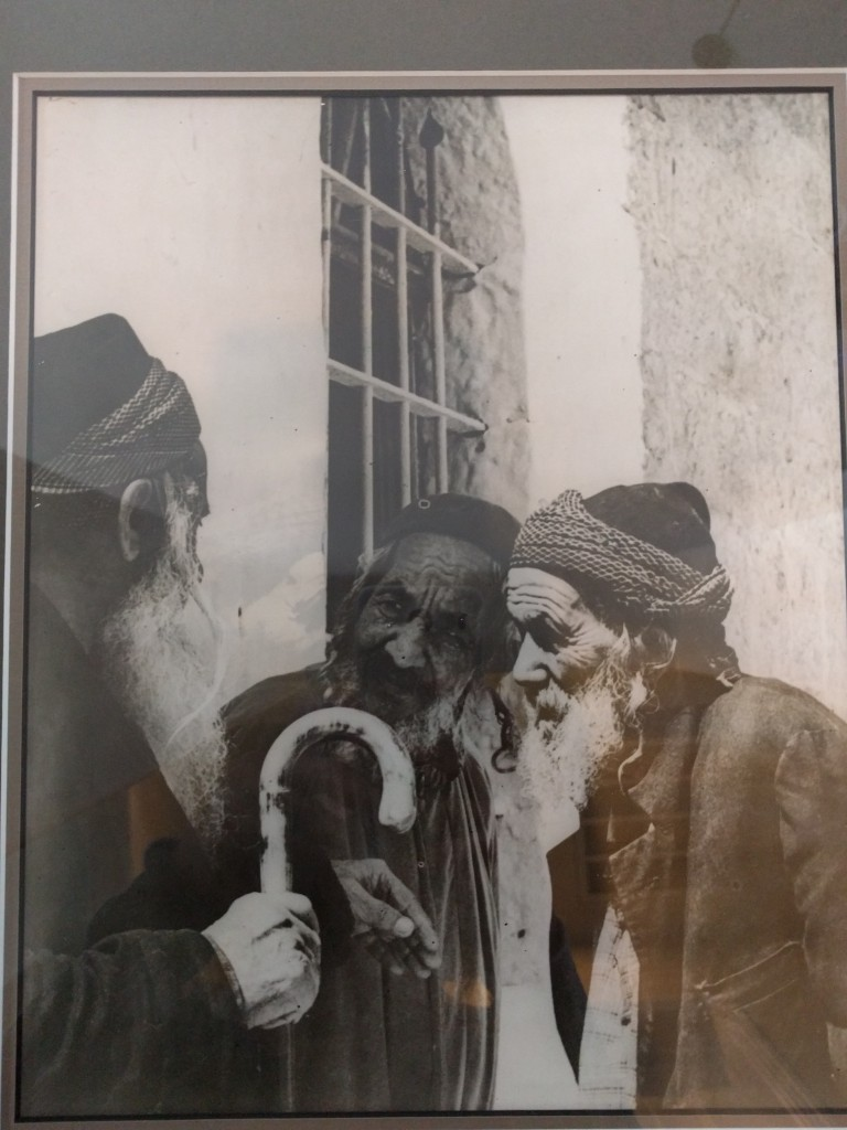 My great-grandfather Shalom (on the right) maintained his Yemenite dress style.