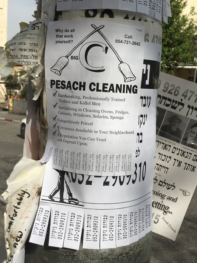 Pesach cleaning
