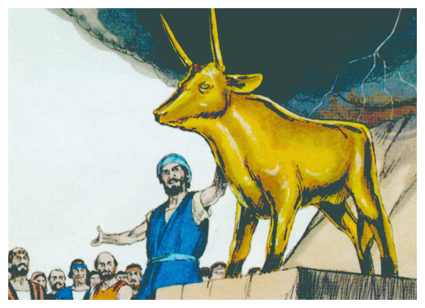 Golden Calf , Free Bible images (http://www.freebibleimages.org/illustrations/moses-golden-calf/)