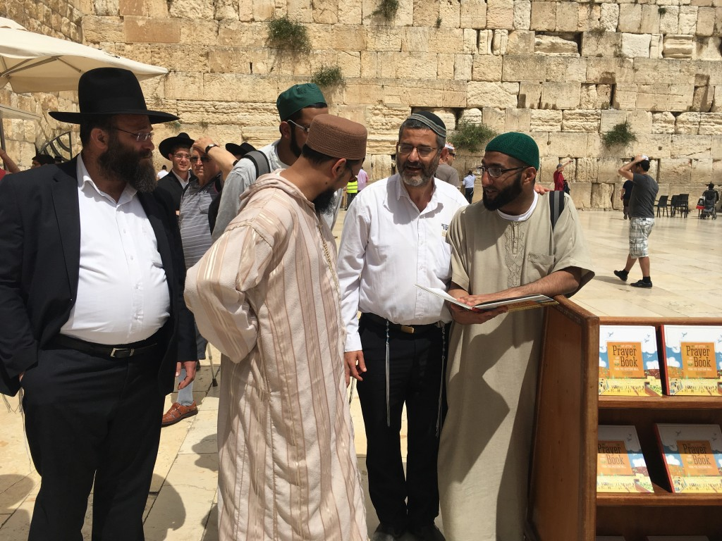 Our Discussion at the Kotel (Photo – Y. Rosenberg)