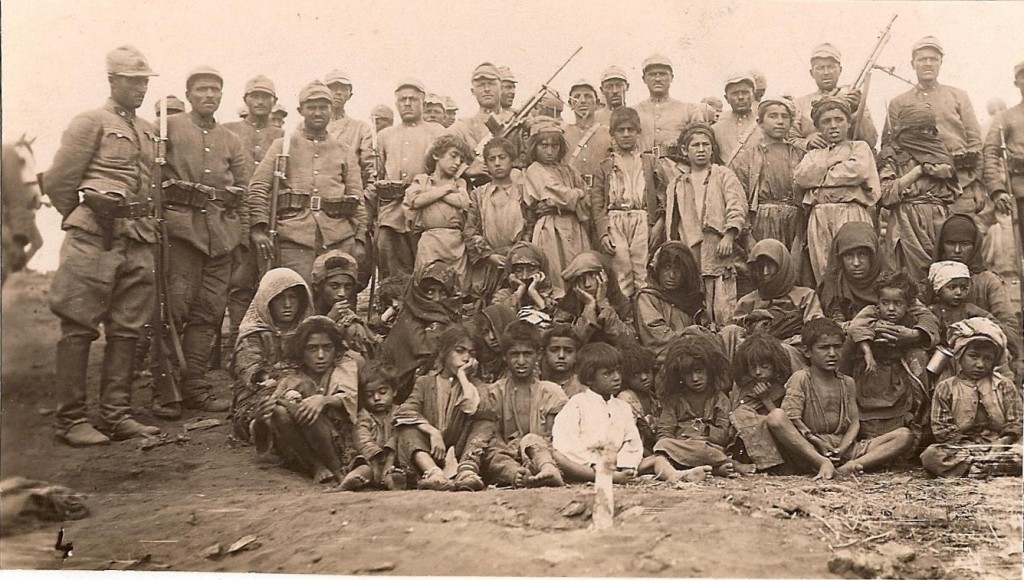 Turkish soldiers and local people of Dersim