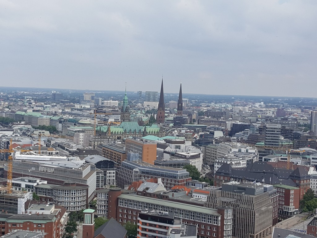 Bird's Eye View of Hamburg