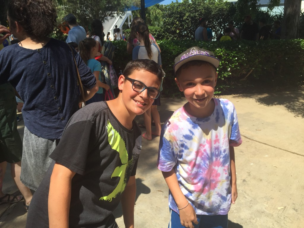 My son and his cousin at the camp's visiting day.