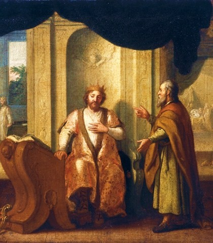 Nathan, right, with King David, by Matthias Scheits , 1672 (PD via Wikipedia)