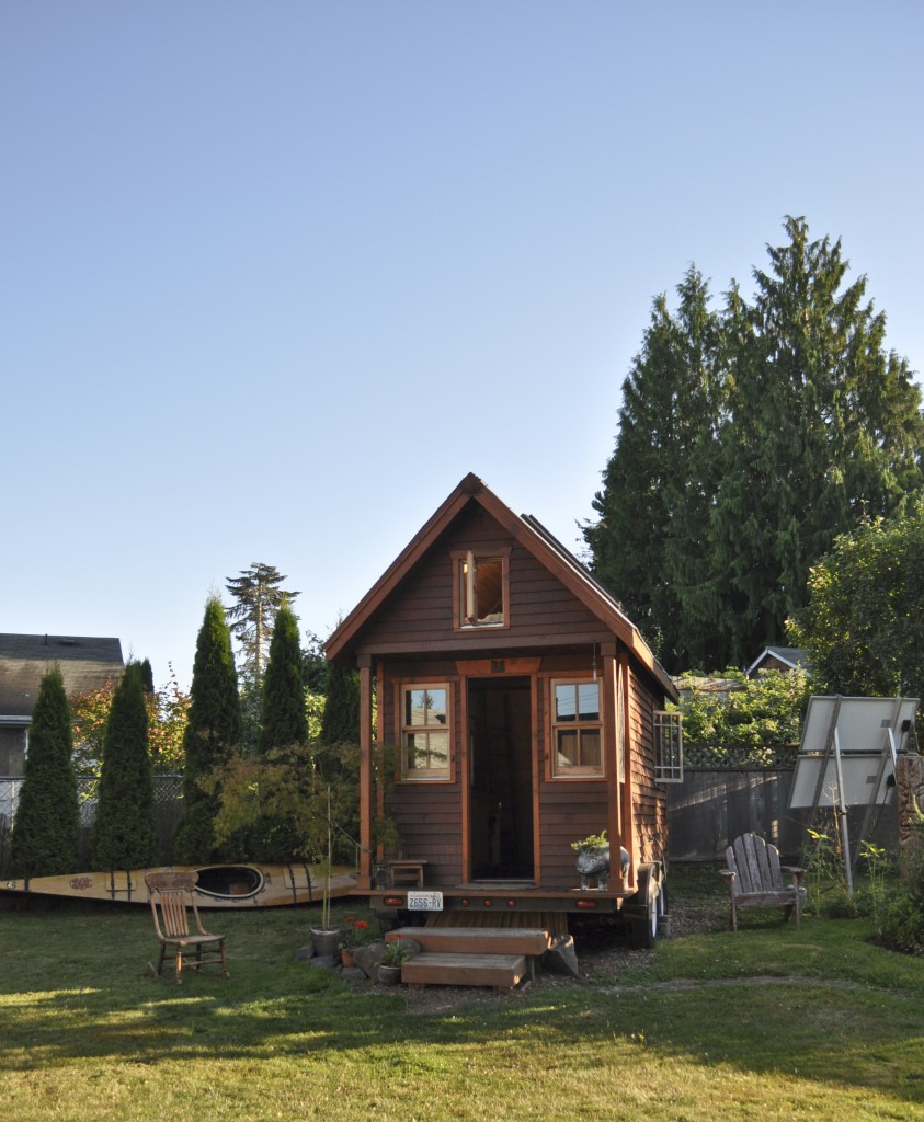 A Tiny House in Portland, Oregon similar to the one Akiva Ben-Ezra is building in Israel. Photo courtesy of Tammy Strobel