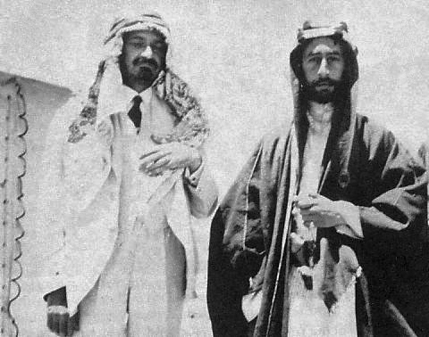 Chaim Weizmann and Emir Faisal (signed the Faisal-Weizmann agreement)