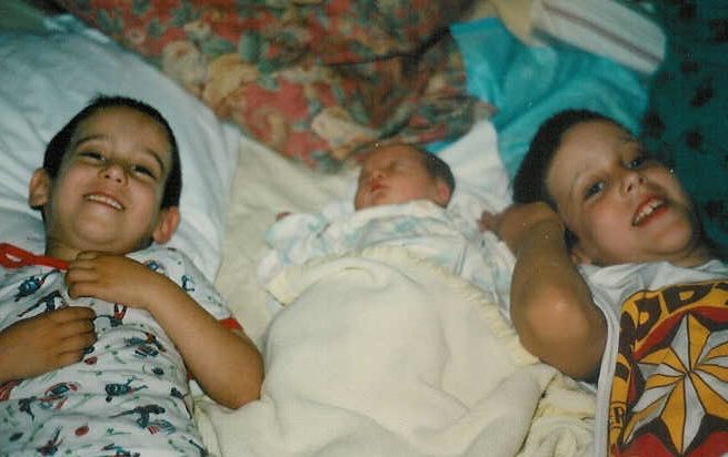 Gabe, Akiva and Natan a few hours after birth.