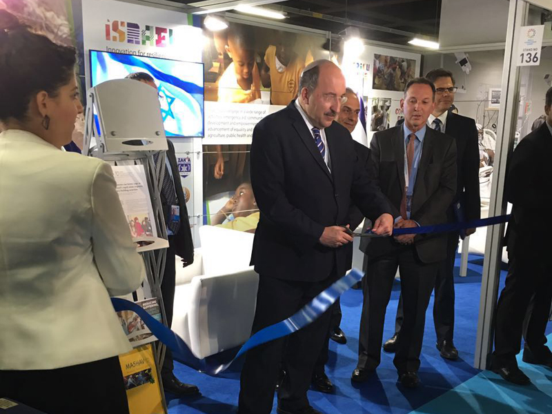 Dr. Dore Gold, MFA Director General and Ambassador Gil Haskel, during the inauguration ceremony, Istanbul