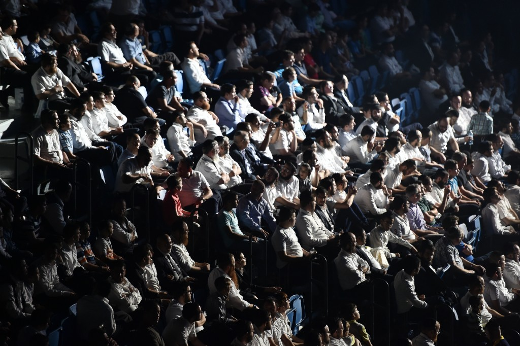 Part of the crowd at the event.