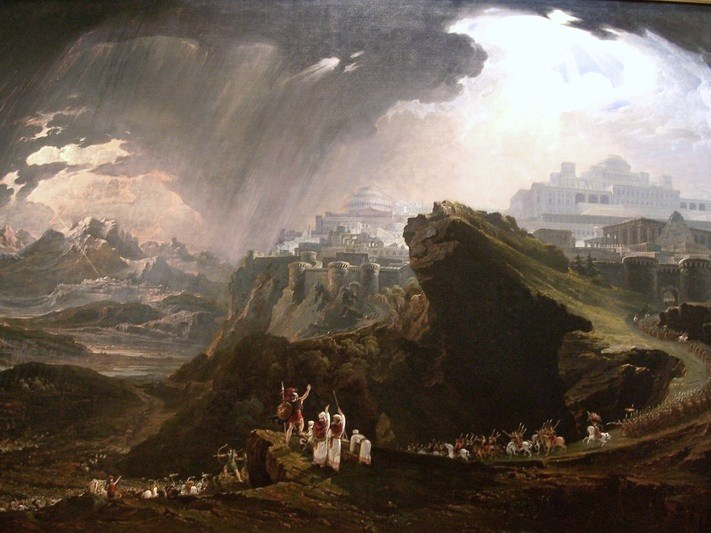 Joshua Commanding the Sun to Stand Still upon Gibeon, by John Martin (photo credit: Public domain, via Wikimedia Commons)