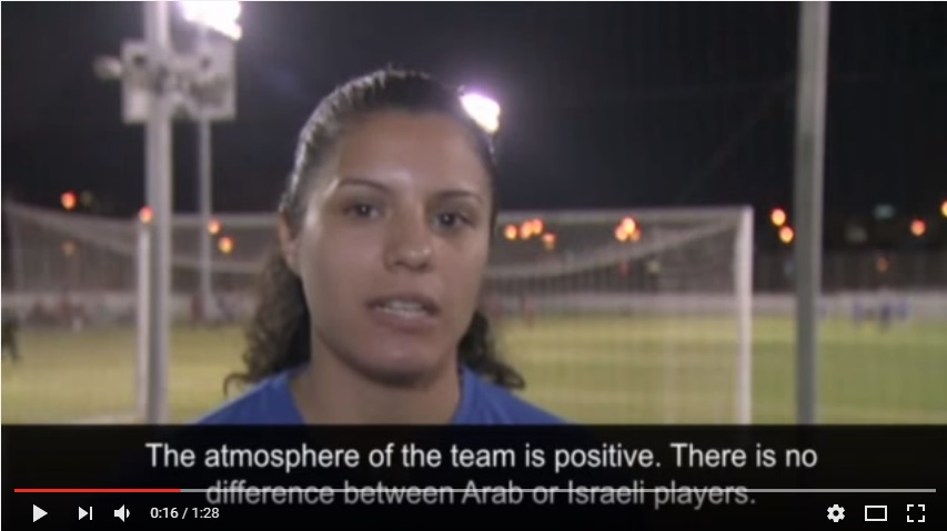 Prefers not to wear hijab (but wouldn't be fined if she did): Noura Abu-Shanab, an Arab Israeli and the captain of the women football team Hapoel Petah Tikva.