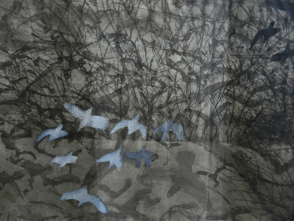 Ruth Tal, Untitled (Detail) drypoint, aquatint, and template etching 2010